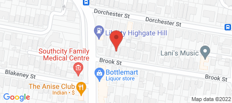 Location map for 2/6 Brook Street Highgate Hill