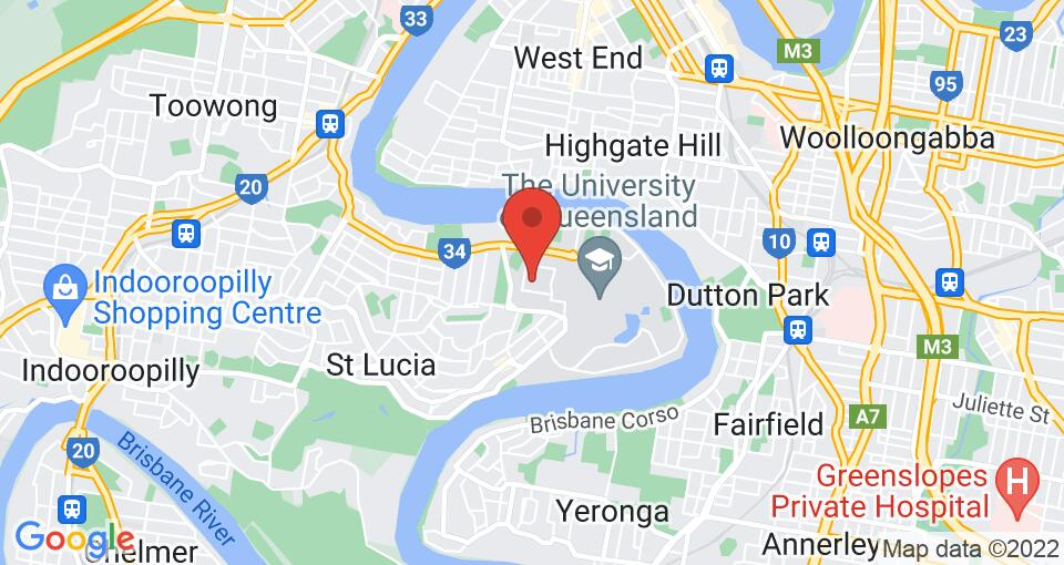 Google Map of Student Living UQ - St Lucia