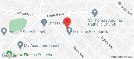 Location map for 14 Ninth Avenue St Lucia