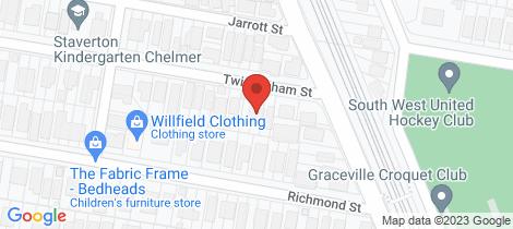 Location map for 12 Twickenham Chelmer