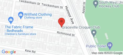 Location map for 9 Richmond Street Chelmer