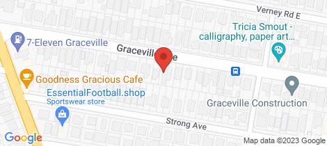 Location map for 45 Graceville Avenue Graceville