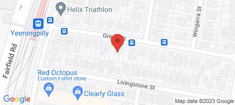 Location map for 25 Green Street Yeerongpilly