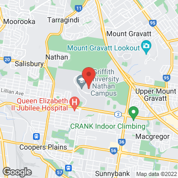 Map of STA Travel at Community Centre Shop 5, Griffith University, QLD 4111