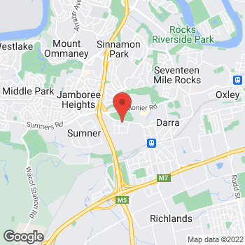 Map of O'Brien® Glass Brisbane at 82 Westcombe Street, Darra, QLD 4076