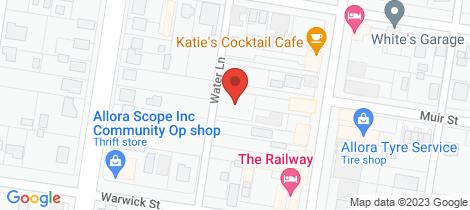Location map for 56 Herbert Street Allora