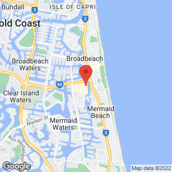 Map of STA Travel at Hooker Boulevard, Broadbeach, QLD 4218