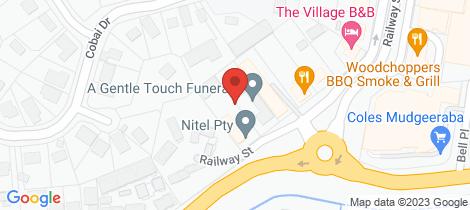 Location map for 3/75 Railway Street Mudgeeraba