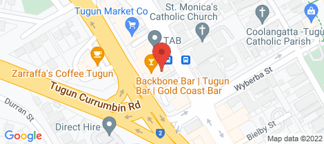 Location map for 5/496 Golden Four Dr Tugun