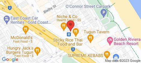 Location map for 2/445 Golden Four Drive Tugun
