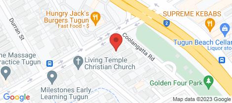 Location map for 2/512 Coolangatta Road Tugun