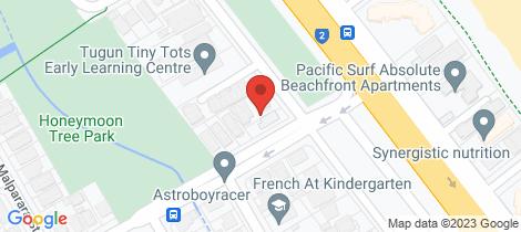 Location map for 2/452 Coolangatta Road Tugun