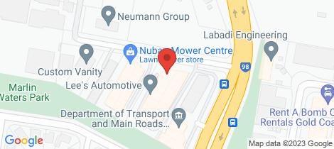 Location map for 3/6 Nuban Street Currumbin Waters