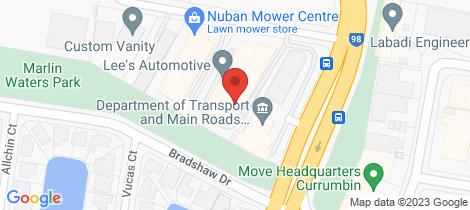Location map for 6/6 Nuban Street Currumbin Waters