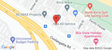 Location map for 301/46-48 Pacific Parade Bilinga