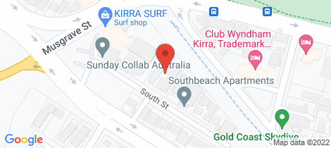 Location map for 27/15-17 South Street Coolangatta
