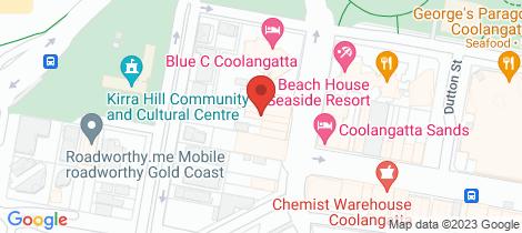 Location map for 21a McLean Street Coolangatta