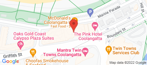 Location map for Lot 10/120 Marine Parade Coolangatta