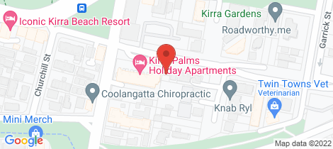 Location map for 24/102-112 Musgrave Street Kirra