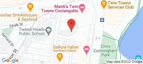 Location map for Level 3/344/6 Stuart Street Tweed Heads