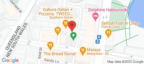Location map for 1065/14-22 Stuart Street Tweed Heads