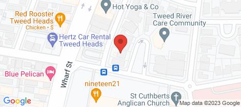 Location map for 24C McGregor Crescent Tweed Heads