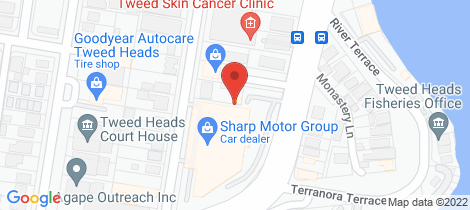 Location map for 151 Wharf St Tweed Heads