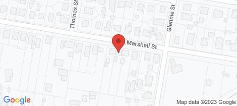 Location map for 20 Marshall Street Warwick