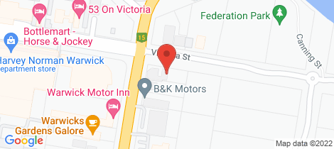 Location map for 48 Victoria Street Warwick