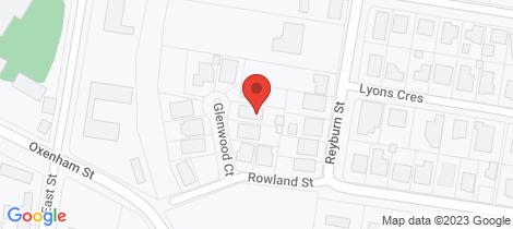 Location map for 6 Glenwood Court Warwick