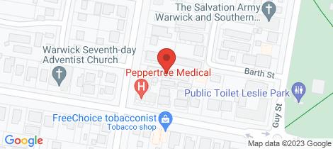 Location map for 5/24 Dragon Street Warwick