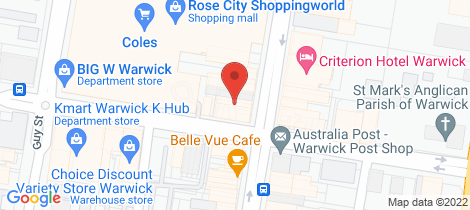Location map for 107 Palmerin Street Warwick