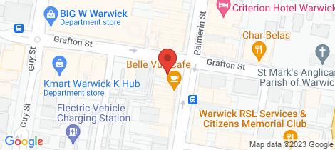 Location map for 1/111 Palmerin Street Warwick