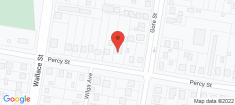 Location map for 134 Percy Street Warwick