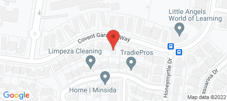 Location map for 28 covent Gardens Way Banora Point