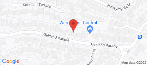Location map for 30 Oakland Parade Banora Point