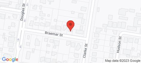 Location map for 1 Braemar Street Warwick