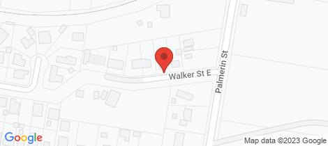 Location map for 6 Walker Street East Warwick