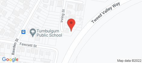 Location map for 21 Irving Street Tumbulgum
