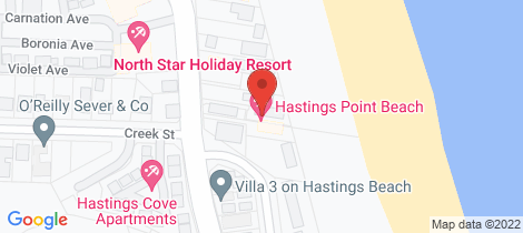 Location map for 1/24A Tweed Coast Road Hastings Point