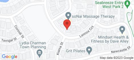 Location map for 2/26 Lennox Circuit Pottsville