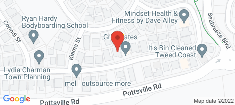 Location map for 32 Newcastle Drive Pottsville