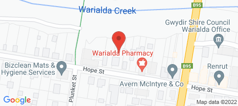 Location map for 2/26 Hope Street Warialda