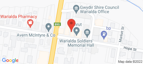 Location map for 58 Hope Street Warialda