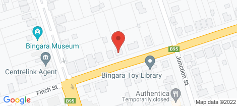 Location map for 27 Finch Street Bingara