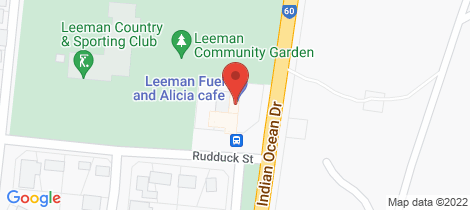Location map for 5 Ruddock street Leeman