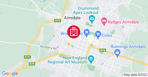 Location of Armidale Hospital Redevelopment