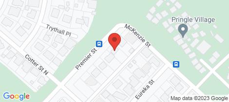 Location map for 5 Premier Street Hannans