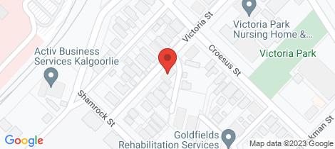 Location map for 29 Victoria Street Kalgoorlie