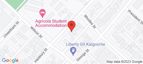 Location map for 87 Hanbury Street Kalgoorlie
